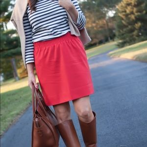 J.Crew Red Wool City Skirt. Size 8